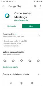 webex en googlePlay