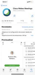 webex Iphone instalando