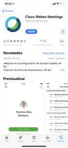 webex Iphone abrir
