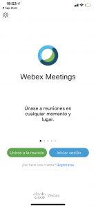 webex Iphone instalada