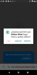 Android permitir cámara
